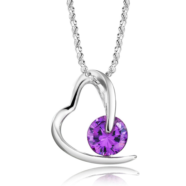 Amethyst Necklace For Couples