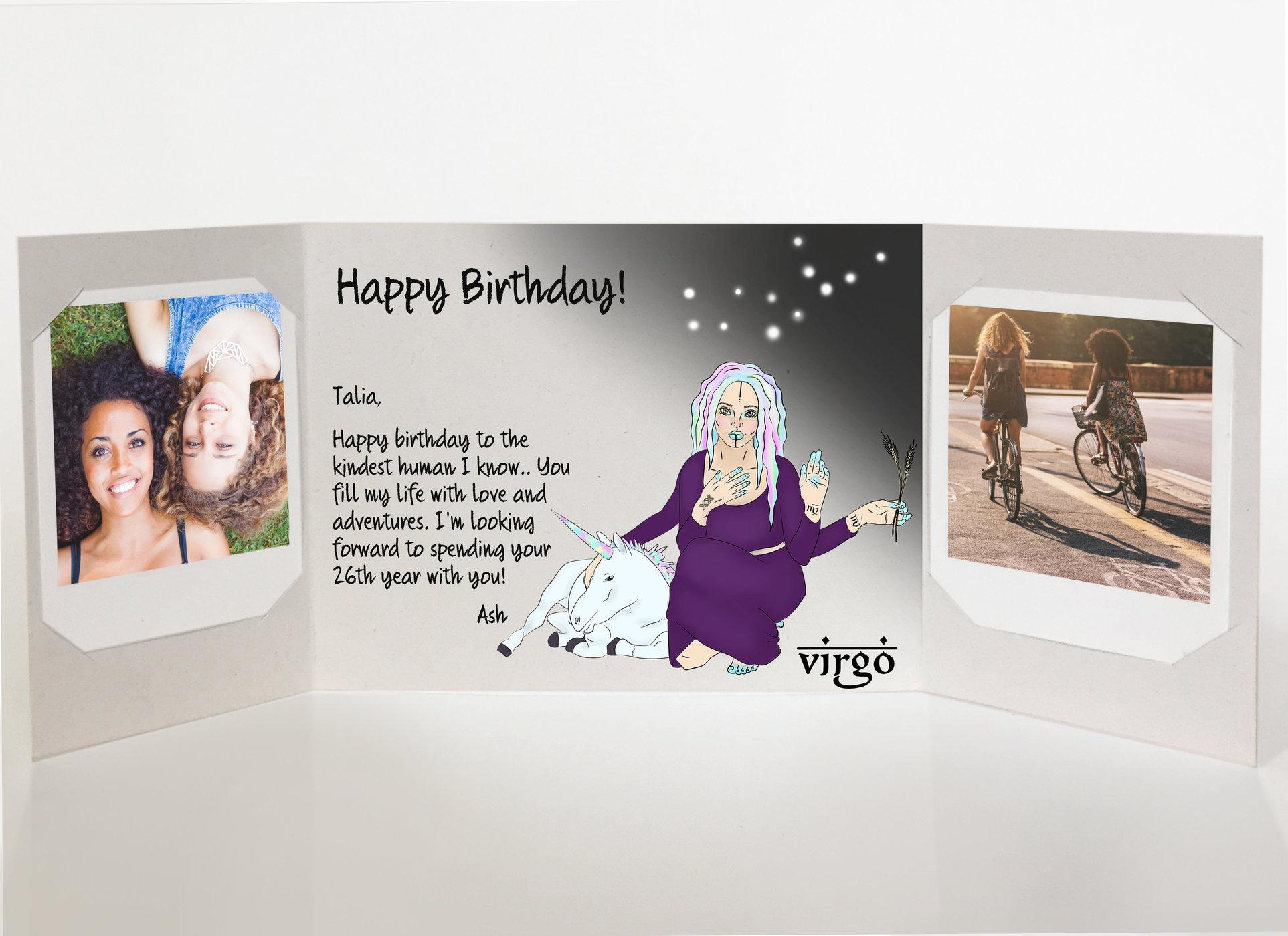 Rsz Virgo Birthday Card