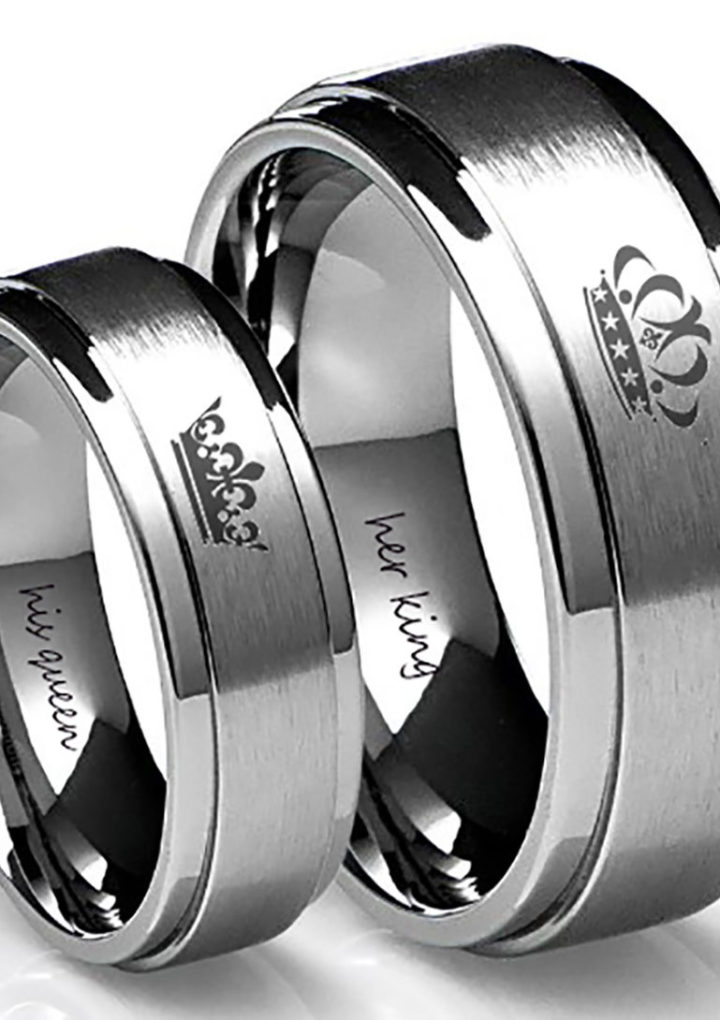 King and Queen Couples Ring Set